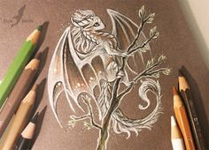 Dragon and other Mythical Fantasy Drawings Fantasy Drawings, Cool Drawings, Fantasy Art, Fantasy Creatures, Mythical Creatures, Cute Dragon Drawing, Dragon Drawings, Drawings Of Dragons, Et Tattoo