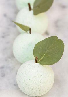 DIY Green Apple Bath Bombs - Sugar and Charm - sweet recipes - entertaining tips - lifestyle inspiration