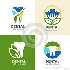 Ilustração multicolorido das folhas do dente e do verde