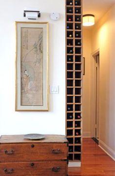 Stockage du vin - Urban Homecraft - Weinregal / wineracket - Home Crafts Küchen Design, House Design, Interior Design, Wine Tower, Wine Rack Design, Muebles Living, Wine Shelves, Wine Display, Wine Rack Wall