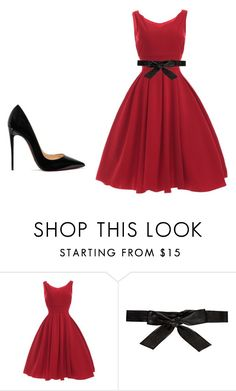 """""""a festive night out"""" by veronique-coetzee on Polyvore featuring Alice + Olivia and Christian Louboutin"""