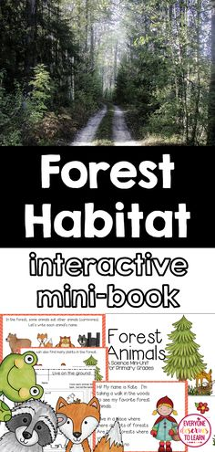take virtual walk through the forest with an interactive mini-book.  All about forest animals!