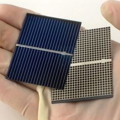 You can wire individual solar cells together to make your own solar panel.