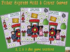 Mrs. Lirette's Learning Detectives: Polar Express Roll and Cover FREEBIE (3 game versions)