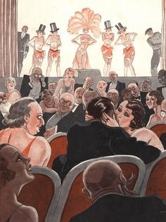 Illustration by George Pavis For Le Sourire December 1931