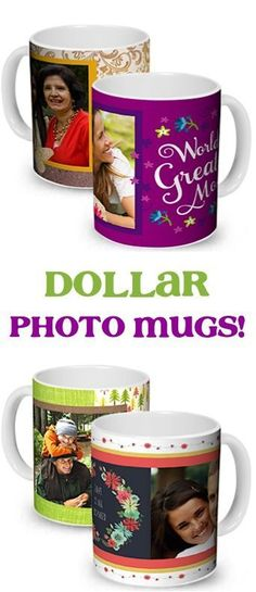 Dollar Photo Coffee Mugs! {+ s/h} ~ these make the BEST personalized gifts for M. - Dollar Photo Coffee Mugs! {+ s/h} ~ these make the BEST personalized gifts for Mother's Day, Fath - Custom Cups, Custom Photo Mugs, Tassimo Coffee Pods, Photo Cup, Coffee Games, Picture Mugs, Best Coffee Mugs, Diy Mugs, Sublimation Mugs