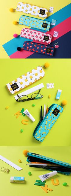 This cute, slim, fruit-themed pen case will give a summery feel wherever you are, any time of year. ^.~*