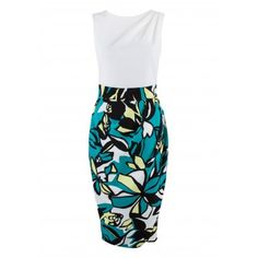 Closet Contrast Marant Print Drape Dress - Work Dresses - Dresses - Clothing