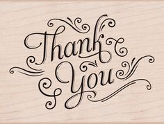 Hero Arts Mounted Rubber Stamps x Thank You W/Flourishes Calligraphy Thank You, Modern Calligraphy, Thank You Typography, Calligraphy Quotes Doodles, Letras Cool, Thank You Letter, Thank You Font, Thank You Messages, Brush Lettering