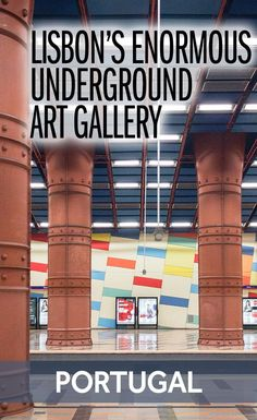 One of the best things you can do in Lisbon is head underground to discover an enormous art gallery. Each of the stations in the Lisbon Metro has been decorated with art and it's a beautiful collection. It's one of the coolest things you can see in Portugal's capital.
