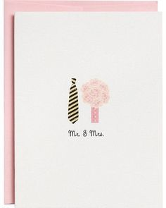 Paper Source Mr. and Mrs. Wedding Card from Paper Source | BHG.com Shop: