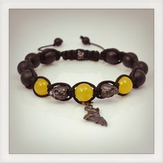 The spirit of Batman ! Shamballa style bracelet