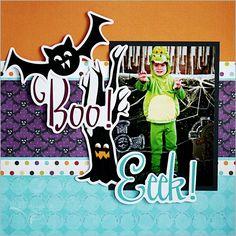 Halloween Scrapbook Layout for Imaginisce