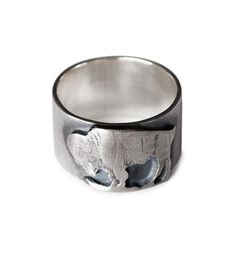 Love :: Buffalo Nickel Sterling Silver Ring by Silver Piston
