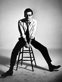Richard Avedon, photographer:  Because the man who spent his life behind the camera knew the power of simplicity, and from his white collared shirt, black turtleneck, and black-frame eyeglasses, he used it.