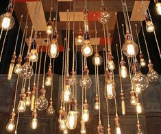 Vintage Light Bulbs Chandelier - http://tiwib.co/vintage-light-bulbs-chandelier/ #LightsClocks