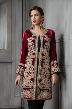 ERUM KHANLight Party Wear And Formal Wear at Retail and whole sale prices at Pakistan's Biggest Replica Online Store Pakistani Bridal Dresses, Pakistani Outfits, Indian Dresses, Indian Outfits, Bridal Sarees, Ethnic Fashion, Indian Fashion, Velvet Dress Designs, Desi Clothes