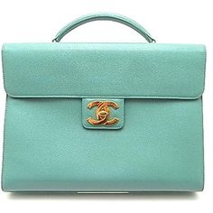 CHANEL Green Caviar Briefcase, I have to have this to carry my sketches....xmas??
