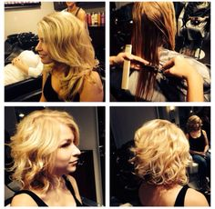 beach waves Balayage blonde hair, haircut before and after