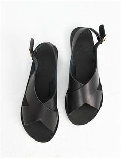 Ancient Greek Sandals Maria- Black