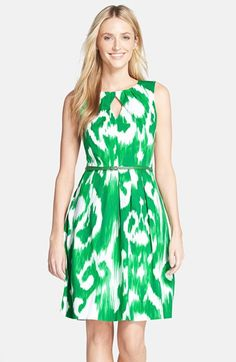 Green Ikat print dress - great for a casual day wedding