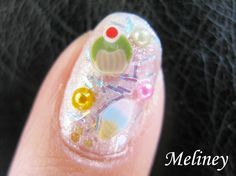 New Year's Dessert Party Birthday Nails Ice Cream cupcake Nails Fimo nail art tutorial Design Cute - YouTube