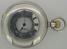 Elgin Demi-Hunter Pocket Watch  Sterling silver case, made in USA c.1904   Price: NZ$650.00  Reference: #0638