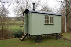 shepherd's hut -  or sheds on wheels, gypsy wagons. a stove, bed, not much else