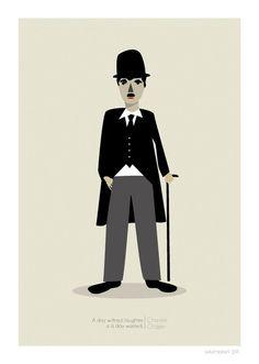 Charlie Chaplin Print - 8x10 or A4. $25.00, via Etsy.
