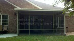 Screen Rooms – Aluminum Awnings & Underdecking of the Carolinas Aluminum Awnings, Aluminum Screen, Screened Porches, Arrow Keys, Building Materials, Close Image, Deck, Wood, Outdoor Decor