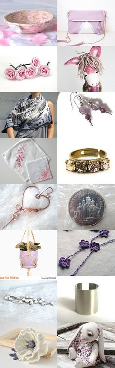 Pastel Pleasures by Julia on Etsy- #Etsy #treasury #Fibernique #pink #ring #basket #key #holder #candy #dish #chnage #holder #purple #scarf -Pinned with TreasuryPin.com