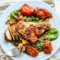 Intensely flavorful and wonderfully healthy Rustic Balsamic Garlic Chicken!