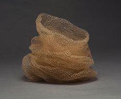Leslie Pontz contemporary fiber sculpture   Baskets