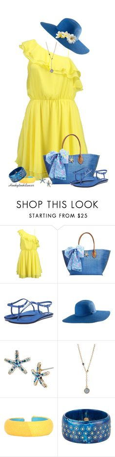 """Yellow & Blue"" by honkytonkdancer ❤ liked on Polyvore featuring Bik Bok, Lilly Pulitzer, Nine West, Betsey Johnson, DANNIJO, Mark Davis, yellowandblue, BetseyJohnsonjewerly, BetseyJohnsonearrings and BetseyJohnsonnecklace"