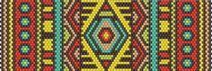 mosaic scheme peyote stitch beadwork