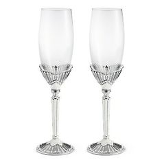 Engraved Moderne Toasting Flutes , Add Your Personalized Message