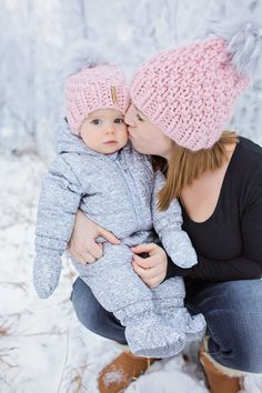 Beautiful Blush Toques Mommy and Me Fashion