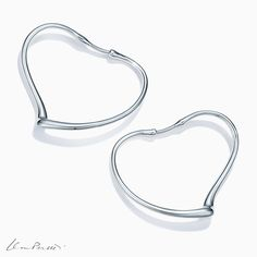 Tiffany OFF! Add a festive finising touch to any holiday ensemble with Elsa Peretti® Open Heart hoop earrings in sterling silver. Tiffany And Co Jewelry, Tiffany Earrings, Hoop Earrings, Jewelry Art, Jewelry Accessories, Fashion Jewelry, Sterling Silver Necklaces, Silver Jewelry, Egyptian Jewelry