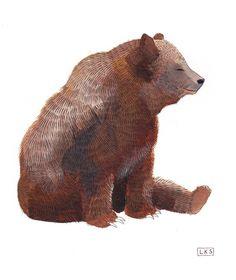 sitting bear, by lydia kasumi shirreff