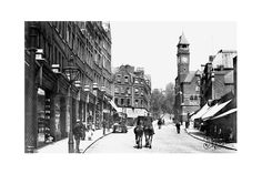 Hampstead High Street, London circa 1898