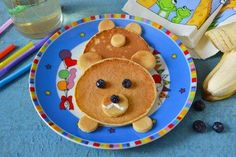bear pancakes for Christmas breakfast ideas