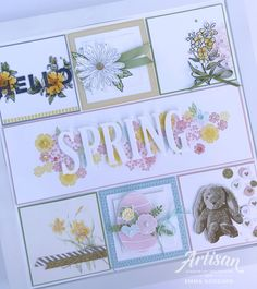 Today I am sharing my project I shared with my team over this weekend & it is the perfect fit for the theme of Easter. Scrapbooking Layouts, Scrapbook Cards, Box Frame Art, Box Frames, Kids Craft Box, Collage Frames, Collages, Global Design, Home And Deco