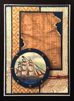 3 Challenge Open Seas by BarbieP - Cards and Paper Crafts at Splitcoaststampers