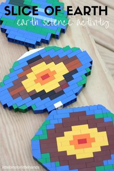 Layers of the Earth Activity | Little Bins for Little Hands Earth Science Projects, Earth Science Activities, Lego Activities, Earth And Space Science, Science For Kids, Science Experiments, Science Notes, Science Lessons, Science Art