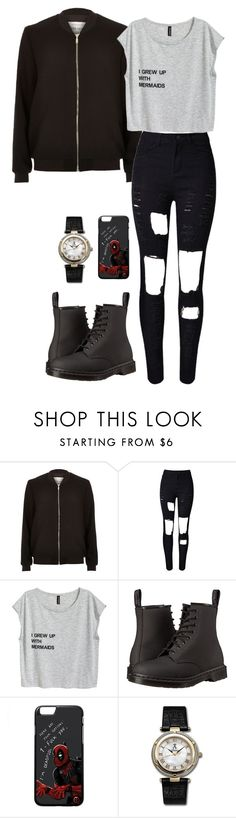 """Lightning strikes"" by shay-trio-of-three-o on Polyvore featuring River Island, WithChic, Dr. Martens and Allurez"