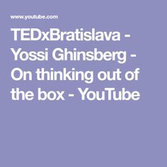 TEDxBratislava - Yossi Ghinsberg - On thinking out of the box Thinking Out, Amazon Rainforest, Box, Youtube, Snare Drum, Youtubers