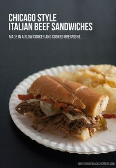 slow cooker Chicago Style Italian Beef. Tastes like the real thing and SUPER easy to make!