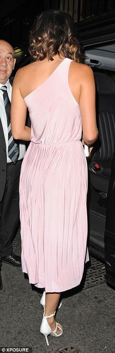 Lucy Mecklenburgh is a Grecian goddess in pastel pink dress 8f227a152