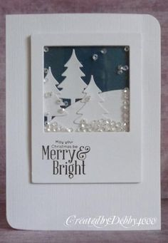 Christmas Shaker Card by Debby4000 - Cards and Paper Crafts at Splitcoaststampers