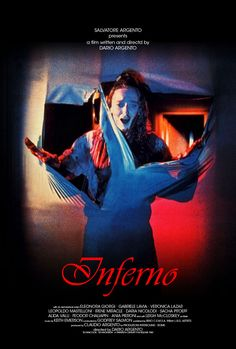 Dario Argento's signature look in this poster for 'Inferno' (1980).